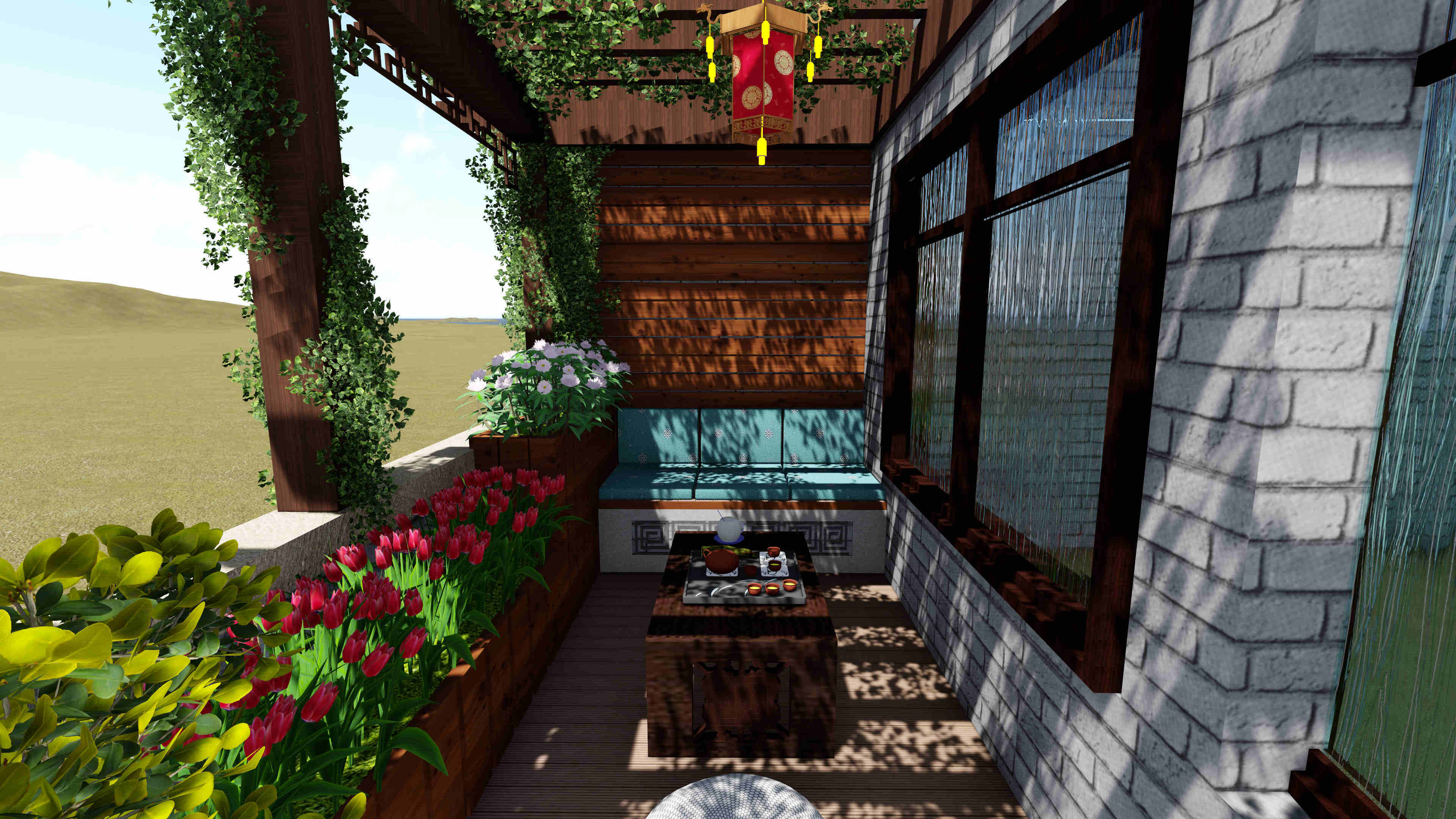 渝高香洲别墅花园设计案例