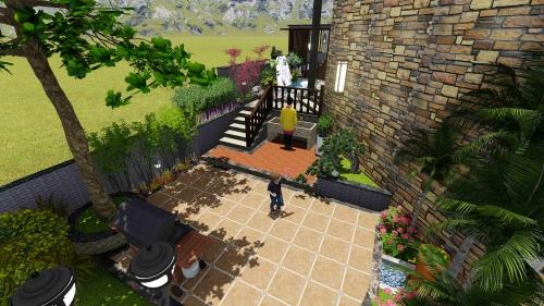 绿岛蓝溪私人花园设计案例展示