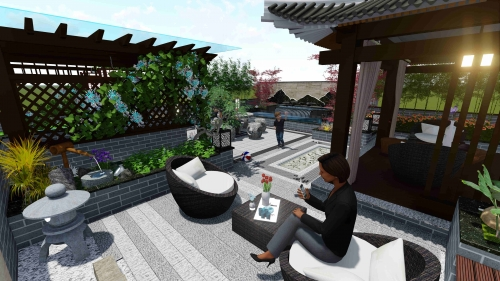虎溪花园设计案例展示