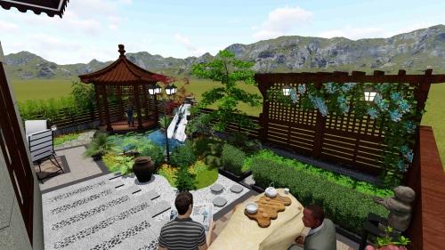 听蓝湾私家庭院设计案例