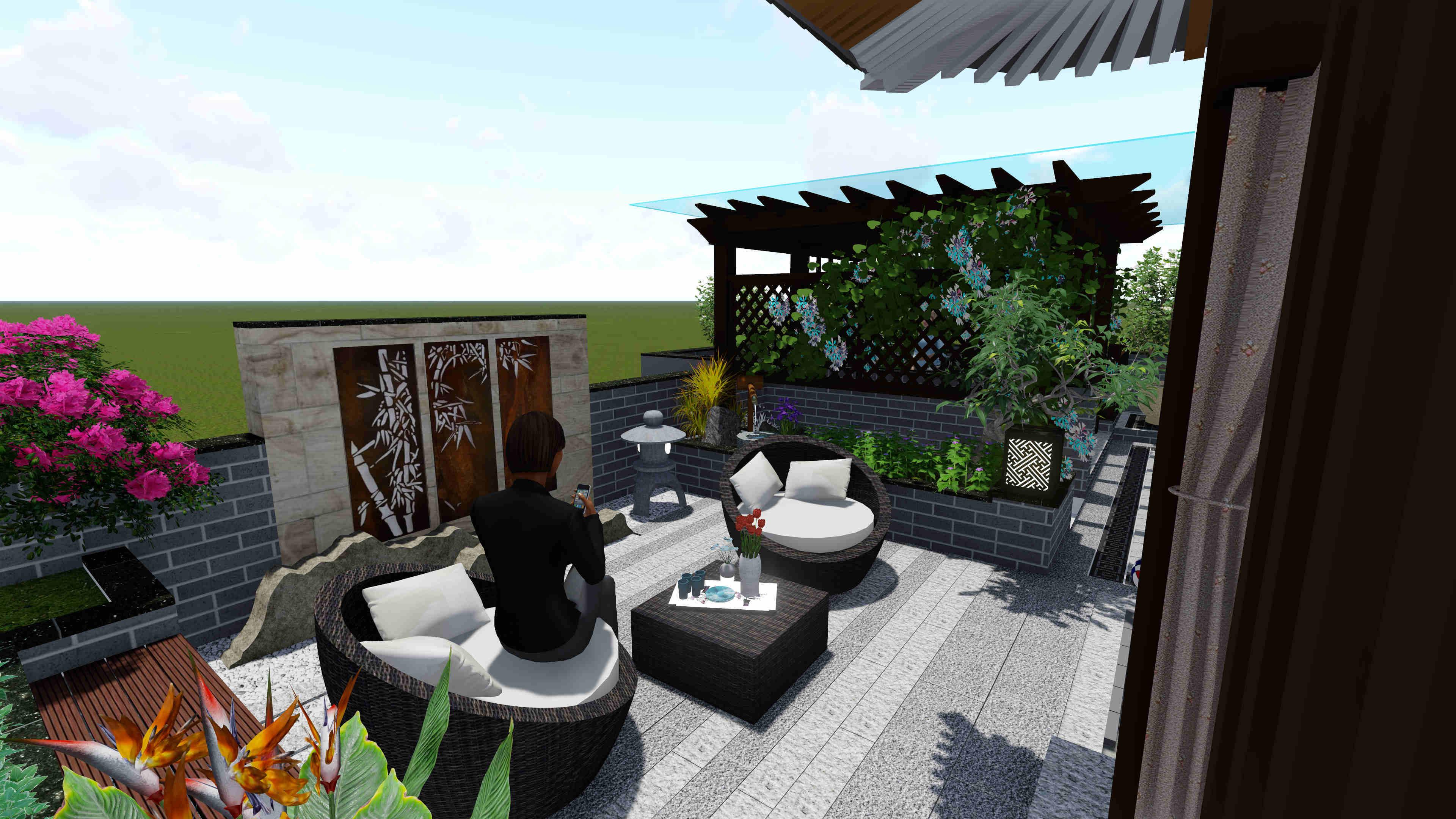 虎溪别墅花园设计