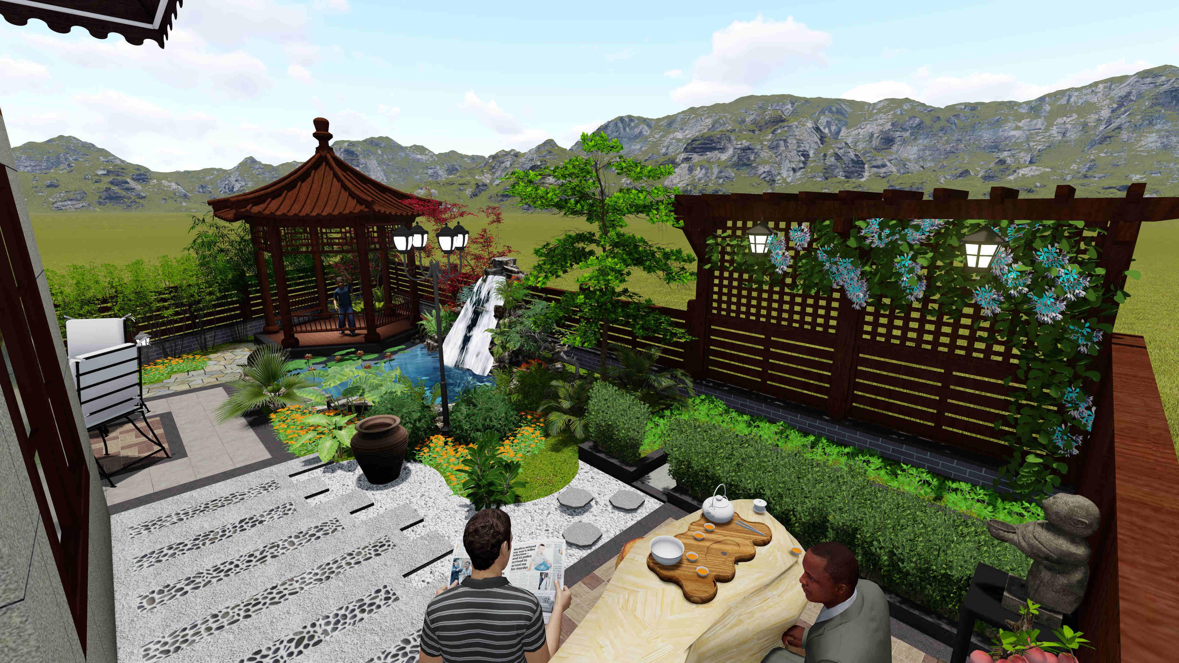 听蓝湾私家庭院设计